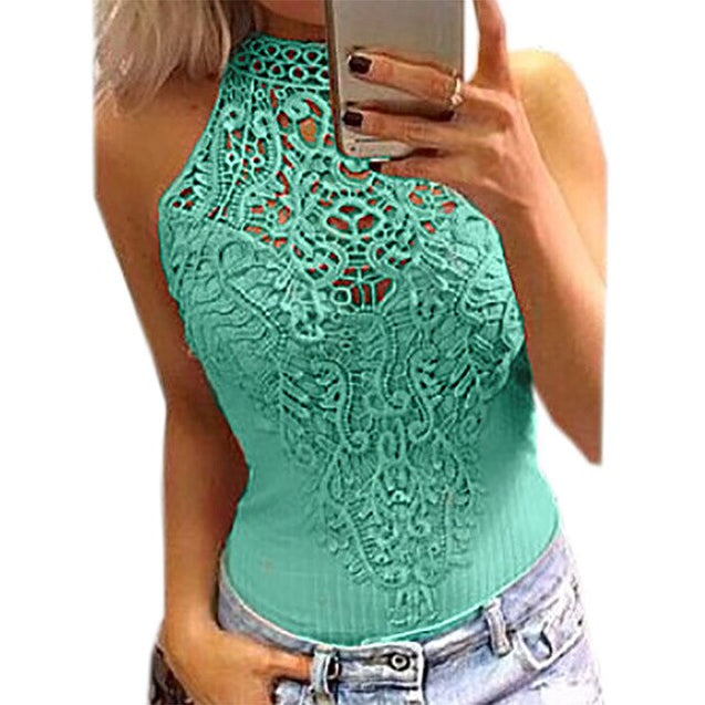 Lace Bodysuits Women Sleeveless Romper