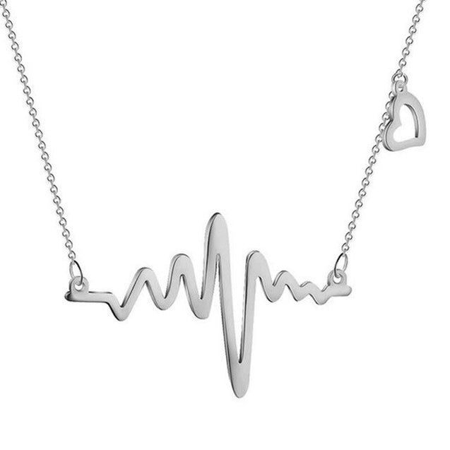 Simple Wave Heart Necklace
