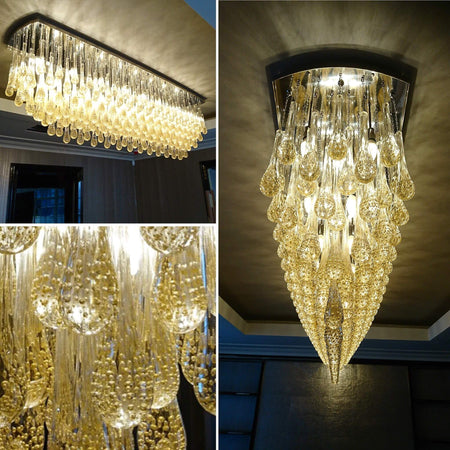 Long custom made Dining room Chandelier
