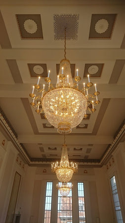 3 Large basket Chandeliers