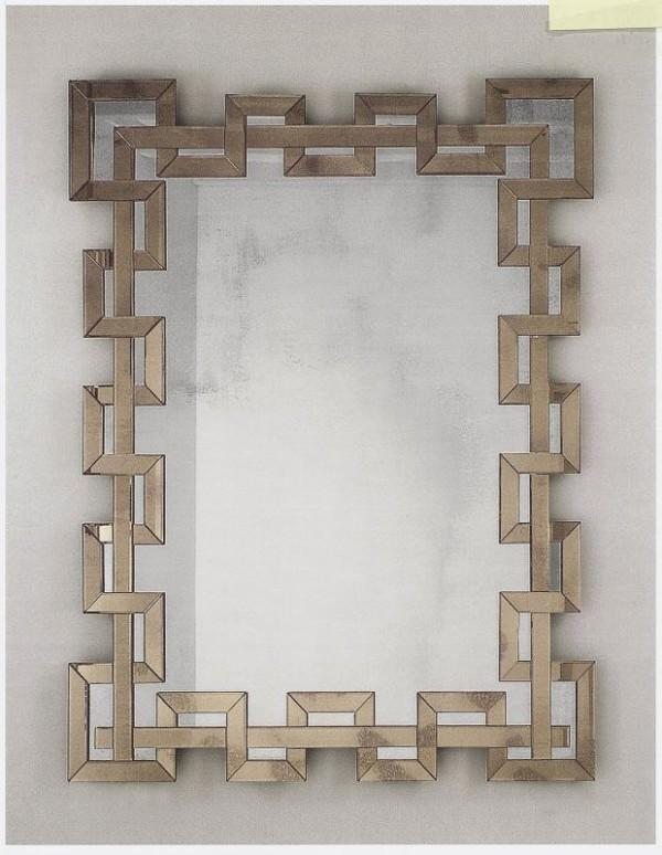 Very large Venetian wall mirror with custom-color Murano glass surround