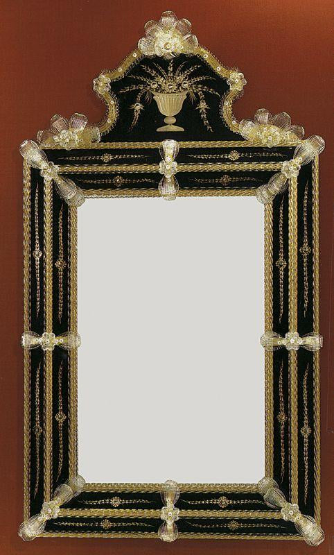 Elegant large Venetian wall mirror with custom colour surround