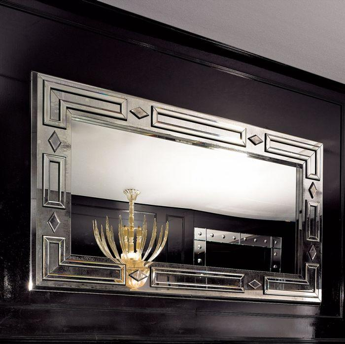 Superb large Venetian wall mirror in the art deco style