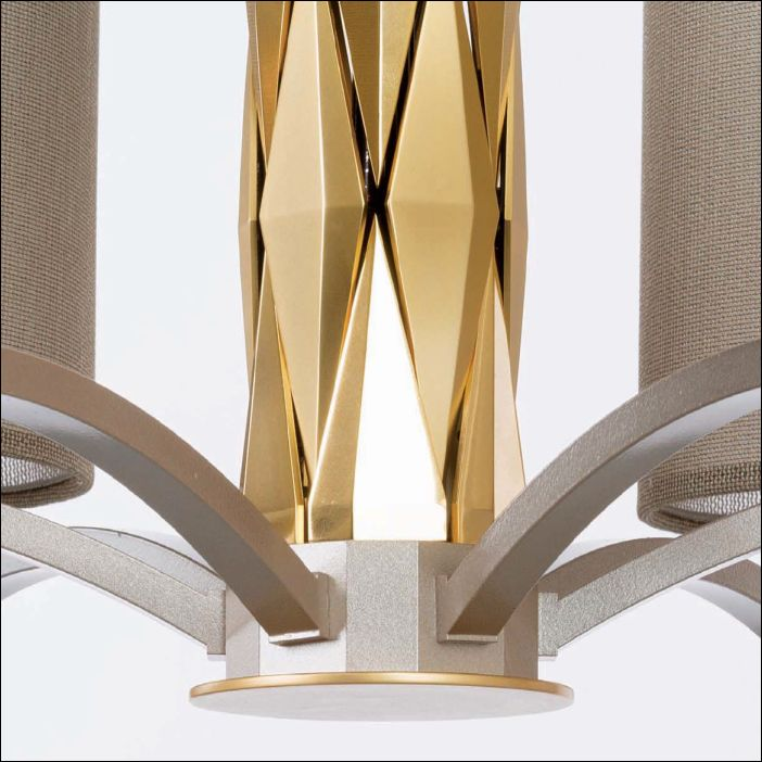 Modern tall 18 light boutique style chandelier with shades