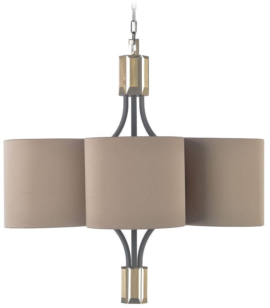 Boutique-style talian pendant light with six lights and shades