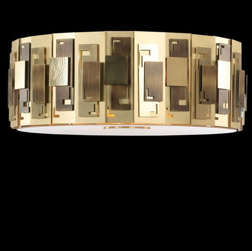 Luxurious high-end designer brass ceiling pendant with 6 lights