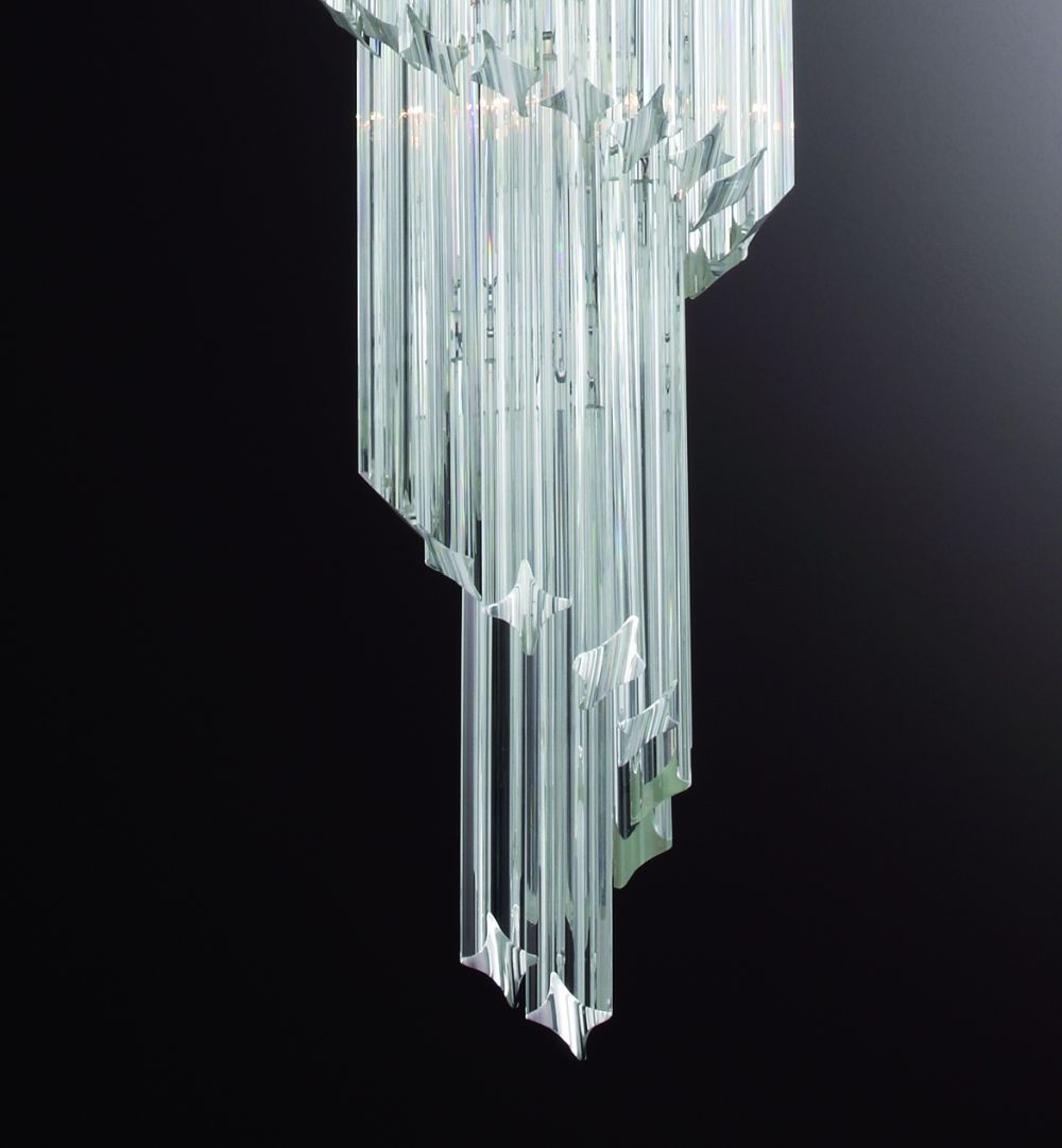 Murano glass prism hallway chandelier with custom size options