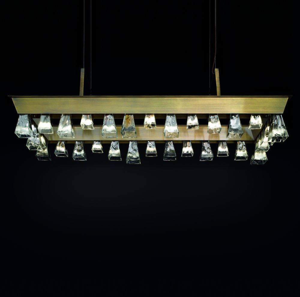 Murano glass mid-century dining room chandelier with 30 lights