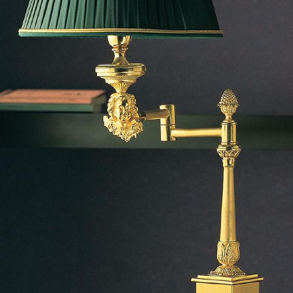 Classic marble table lamp with 'lost wax' angel and numerous colour and finish options