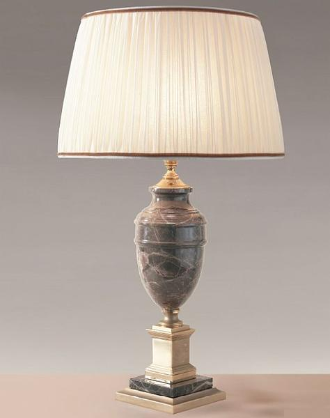 Beautiful black, cream, or brown marble table lamp with antique gold plating