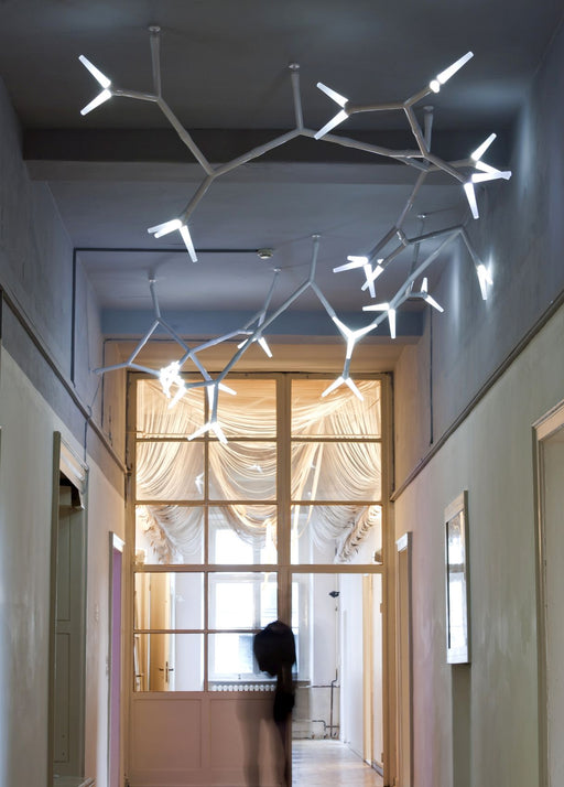 Unusual modern modular lighting system for stairwells and large areas