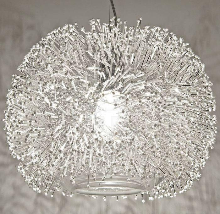 "The beautiful ""Sea Urchin"" 40 cm sphere pendant from Terzani with Swarovski crystal pins"