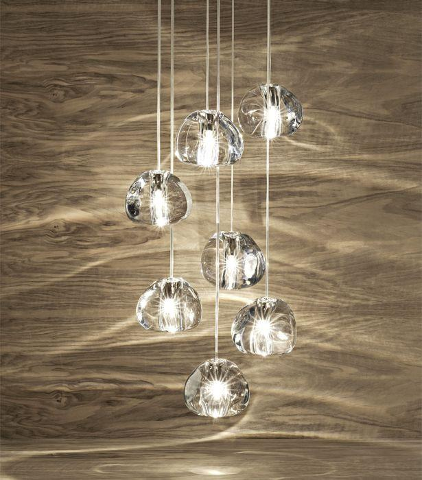 Mizu lead crystal canopy  light with 7 lights and in 6 more sizes from Terzani