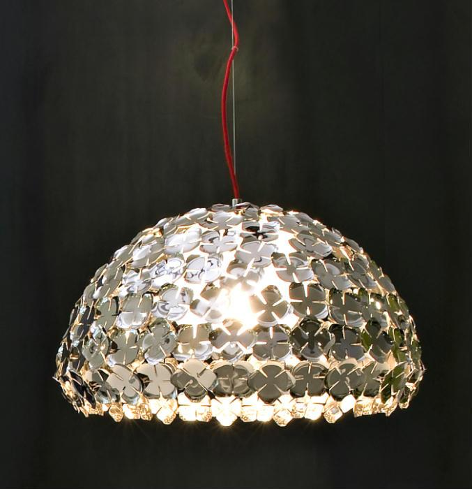 Orten'zia gold or nickel half-globe pendant light from Terzani
