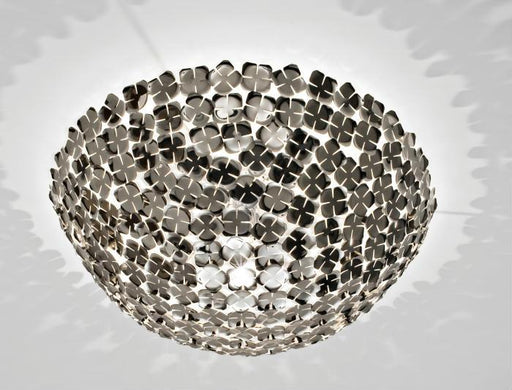 Orten'zia nickel or gold-plated half-sphere flush ceiling light from Terzani