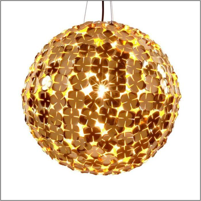 Ortenzia 70 cm gold-plated or nickel ceiling globe pendant from Terzani
