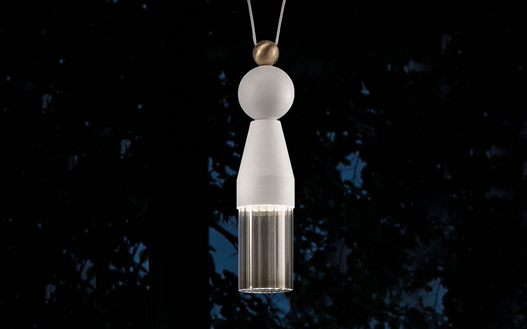 Modern single tassel-style pendant light from Italy in 4 colors