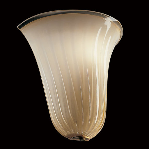 Sophisticated and classic wall light in ivory Murano glass