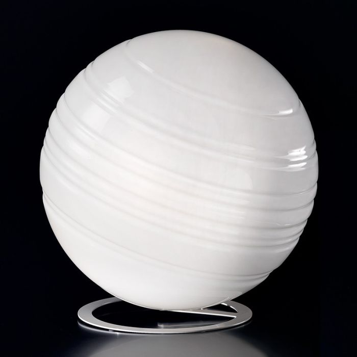Modern white Murano glass globe table lamp