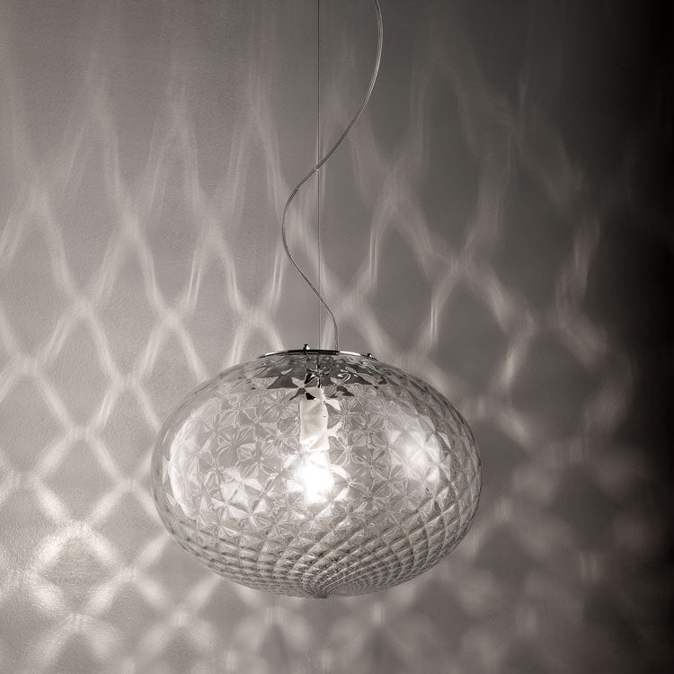 Elegant modern clear balloton glass ceiling pendant in 3 sizes