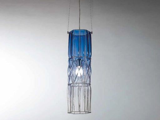 60 cm tall Murano glass ceiling pendant in blue or white
