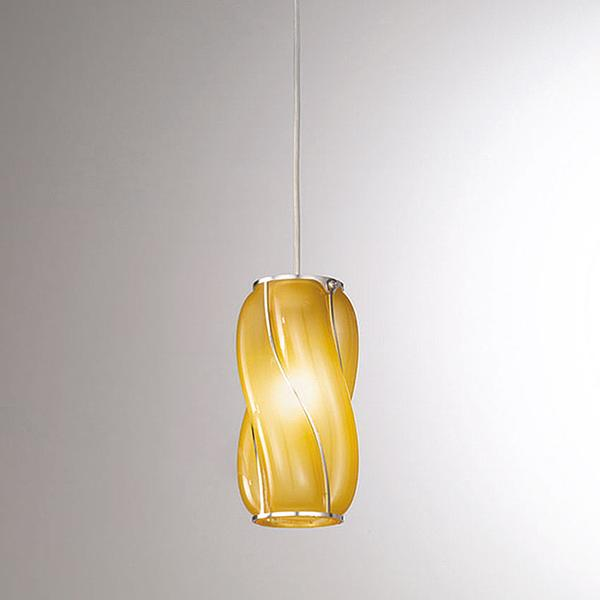 Small modern Murano glass ceiling pendant in custom colors