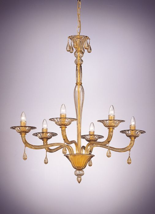 Elegant smoked glass Murano glass chandelier with more color and size options