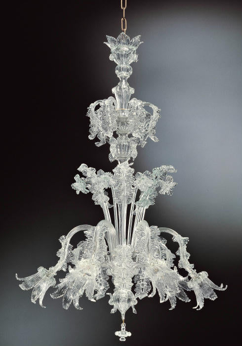 Highly decorative Murano chandelier in custom colors and sizes