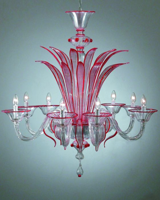 Beautiful made to order Venetian glass chandelier in custom colours