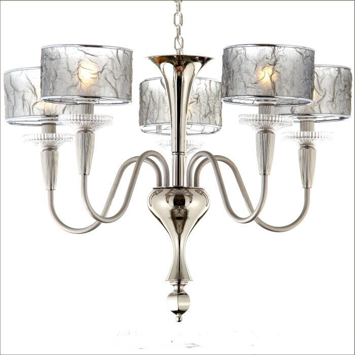 Modern Venetian chandelier with silver, copper or gold shades