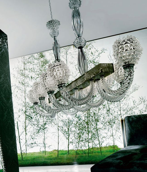 Impressive high-end modern Venetian chandelier with ten lights