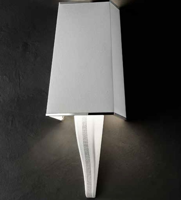 Modern Italian wall light with black, red, white, or tobacco coloured faux leather finish