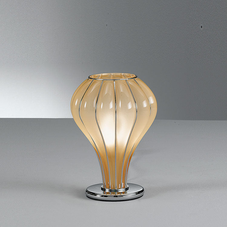 Elegant modern handblown table lamp in 3 Murano glass finishes