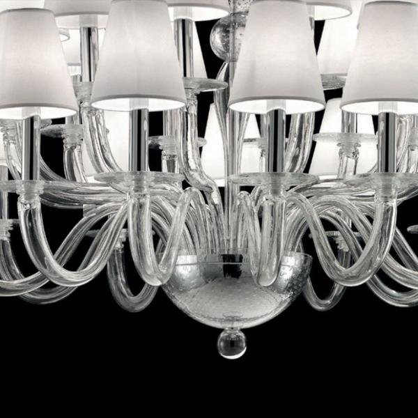 Breathtaking large Murano glass chandelier with 24 lights and bespoke color options