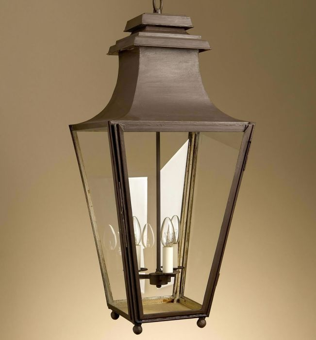 Classic hallway lantern with bespoke finishes