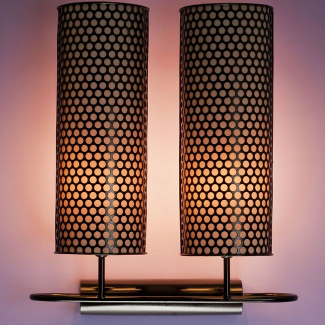 Bronze perforated metal table lamp with custom options