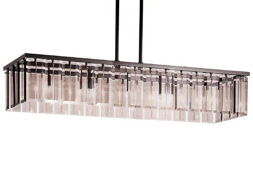 Chic modern wide gold or chrome Italian dining room chandelier with 7 color choices