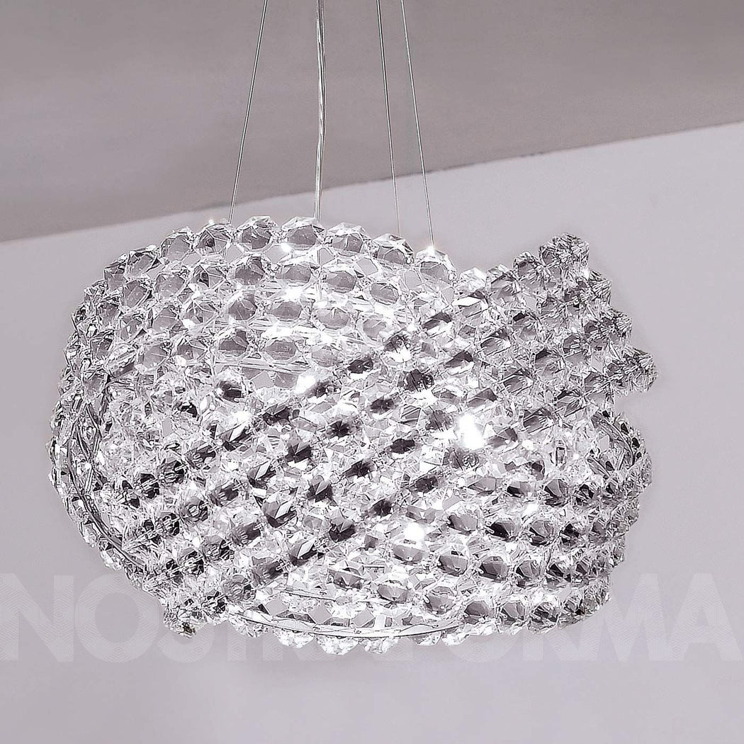 40 cm Diamante pendant light from Marchetti with clear Italian crystals