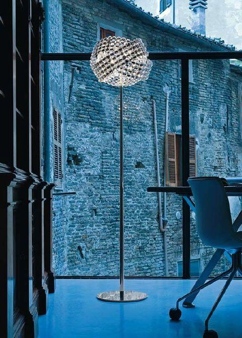 Diamante glittering Italian crystal floor lamp by Marchetti