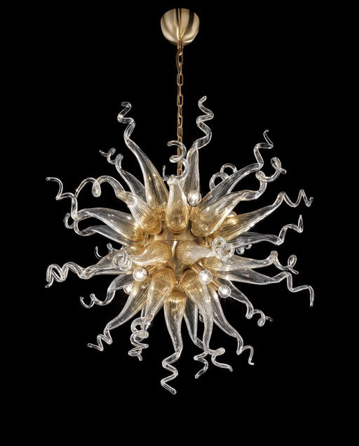 Chihuly-style Murano glass art custom chandelier