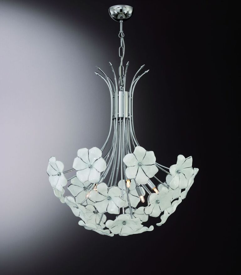 70s retro-style flower bouquet chandelier in the Cenedese style
