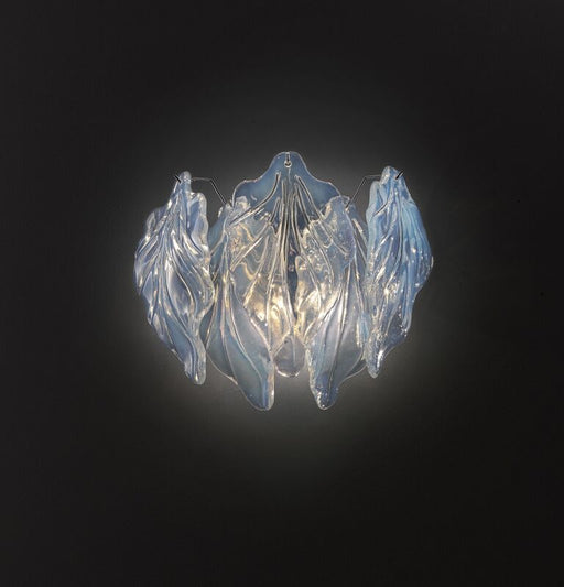 Pretty opaline 60s retro-style Murano glass wall light