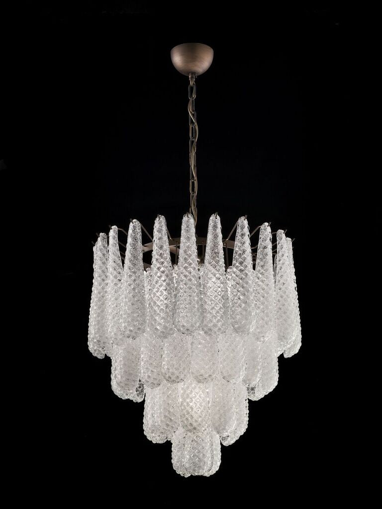 70s style  Murano graniglia glass chandelier in custom colors and sizes