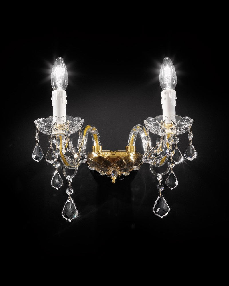 Exquisite Italian made Asfour crystal chandelier with chrome or gold frame