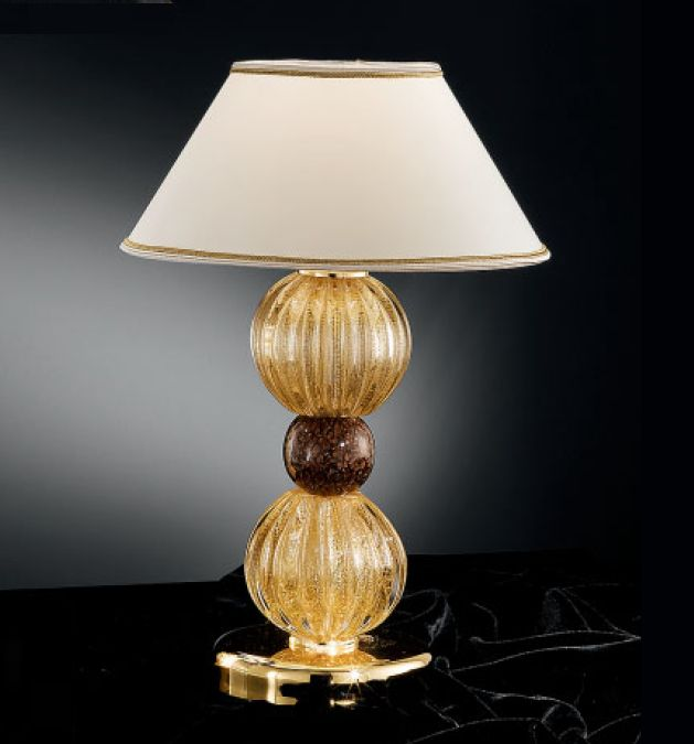 Modern Venetian table lamp with Murano glass spheres in bespoke colors