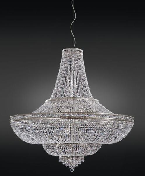 Contemporary Italian Empire-style chandelier with glittering crystals