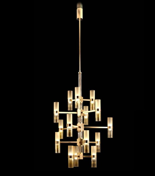 Stylish contemporary gold Italian chandelier with 30 LED lights