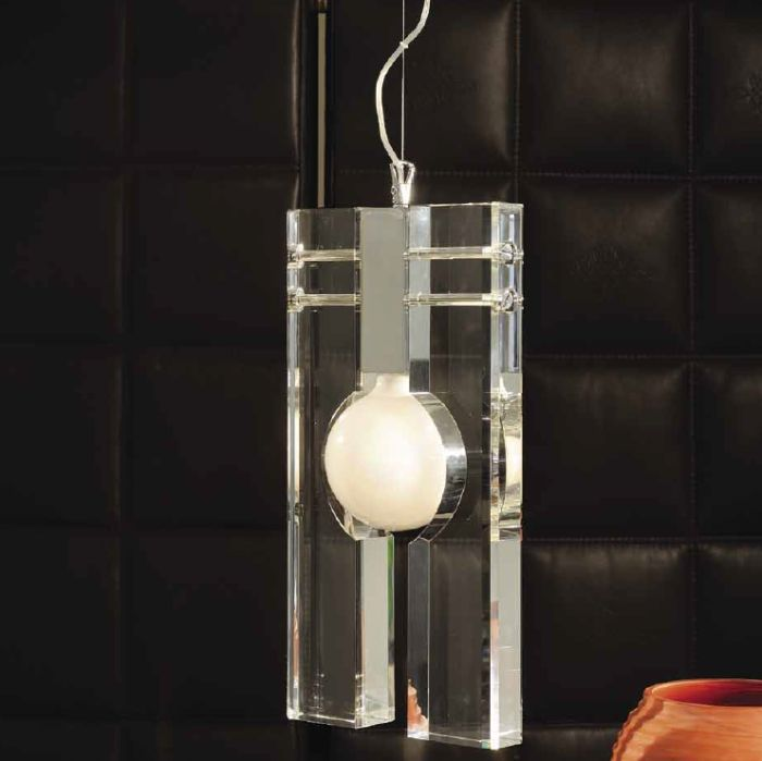 Modern optically pure Italian crystal ceiling pendant light