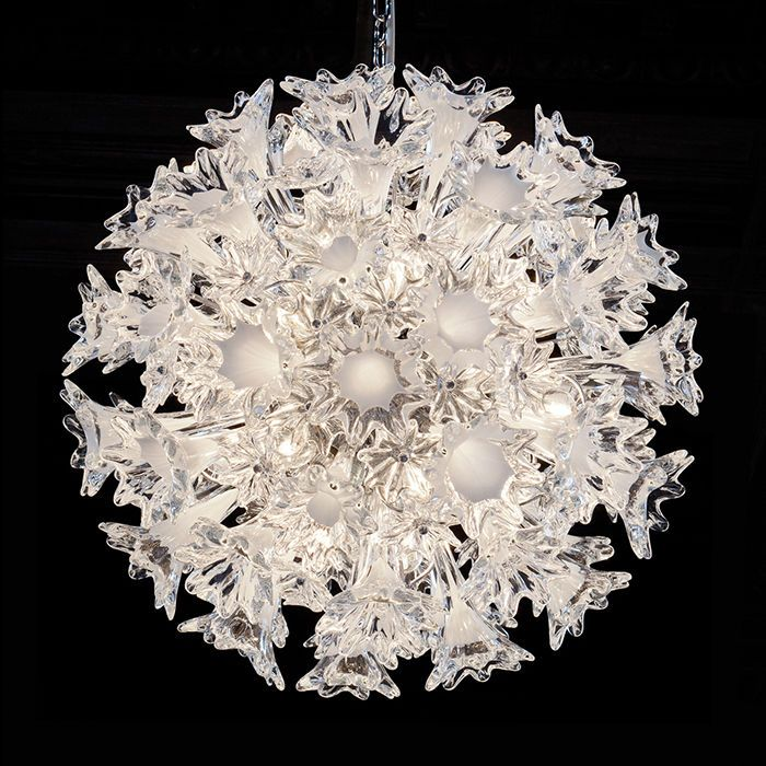 The iconic 60 cm clear Murano glass Esprit pendant light from Venini