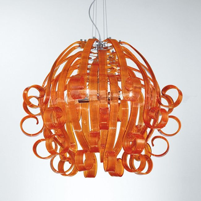 Modern Murano glass ceiling pendant in several gorgeous colors